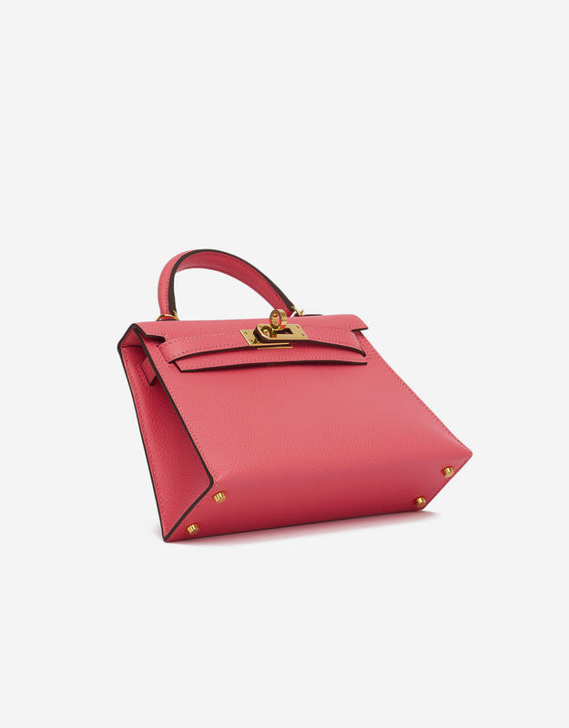 Hermès Kelly 20 Epsom Rose Azalee Mini Sellier