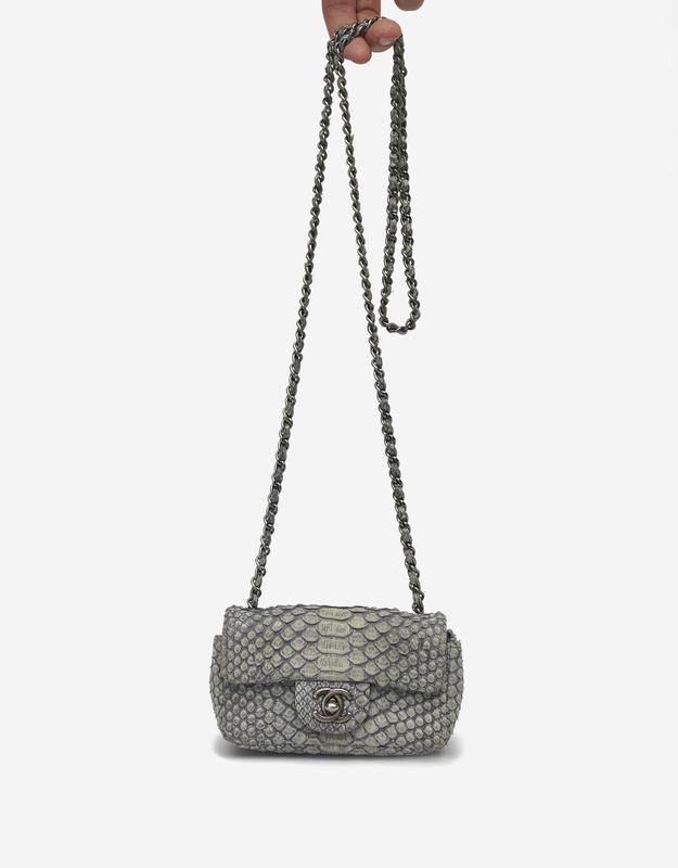 Chanel Timeless Extra Mini Python Grey