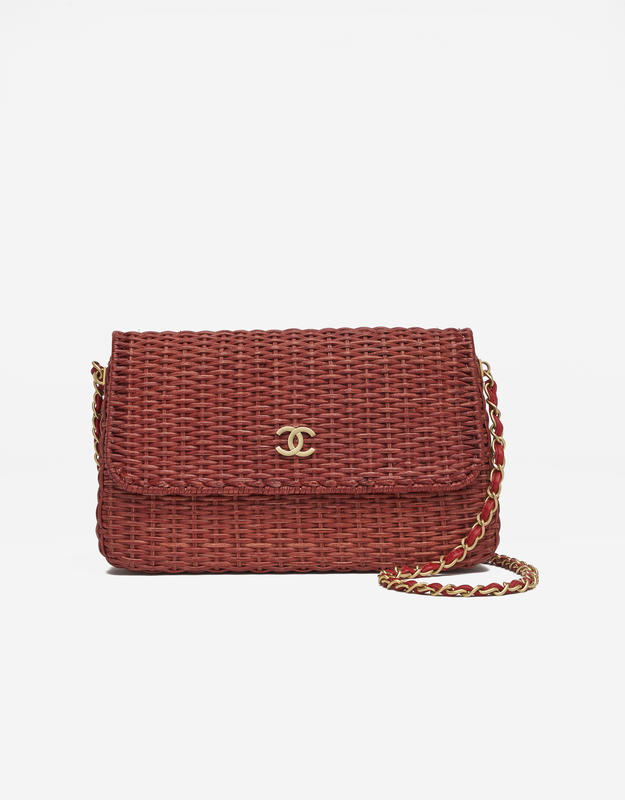 Chanel Timeless Picnic Wicker Red