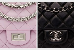(1) Coco's 'Mademoiselle Lock' and (2) Karl's CC Clasp