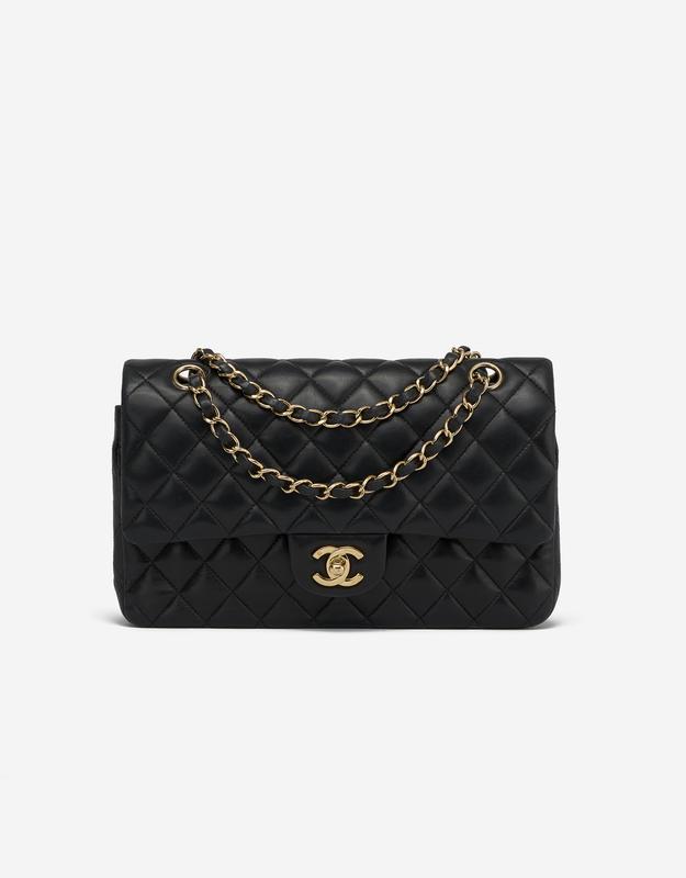 Chanel Timeless Medium Double Flap Lamb Black