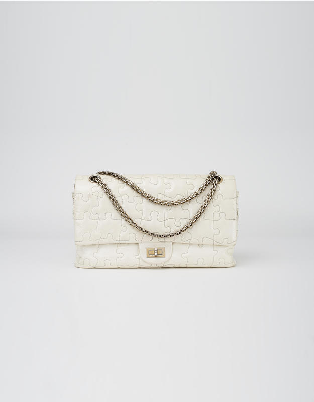 Chanel Reissue 227 Puzzle Off-White