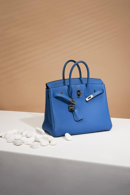 Hermès Birkin 25 Togo Bleu Zanzibar