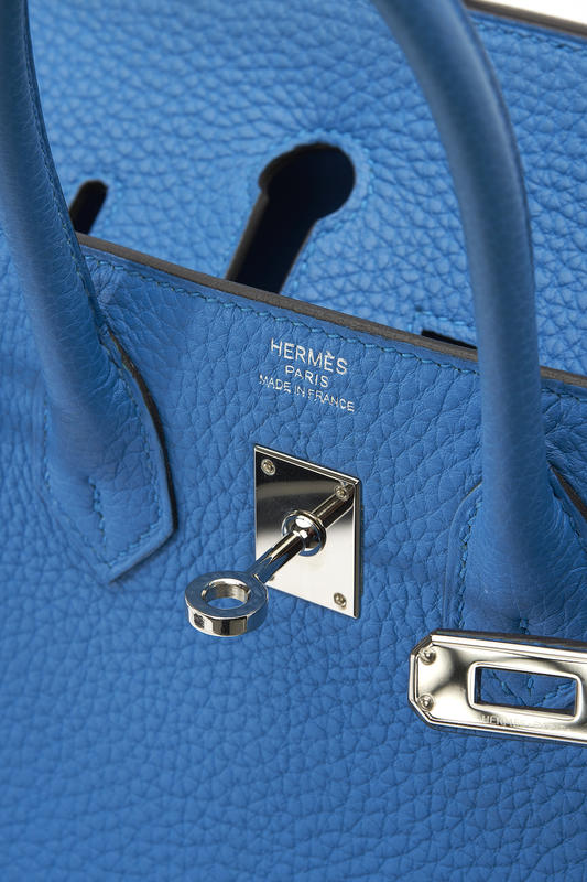 Hermès Birkin 25 Togo Bleu Zanzibar Silver Palladium Hardware