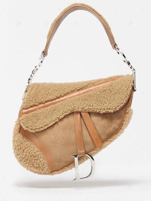 Dior Flight Shearling Saddle Bag