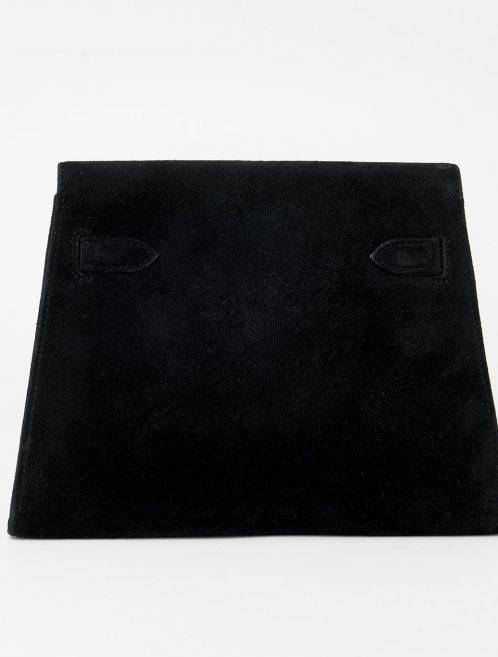 Hermès Vintage Kelly Doblis Noir Evening Envelope Saclàb Back