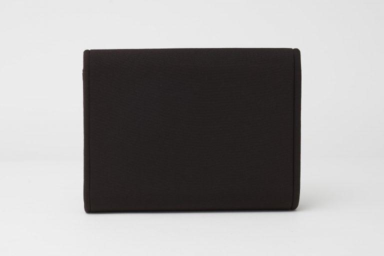Gucci Vintage Fabric Clutch Dark Brown Saclàb Back