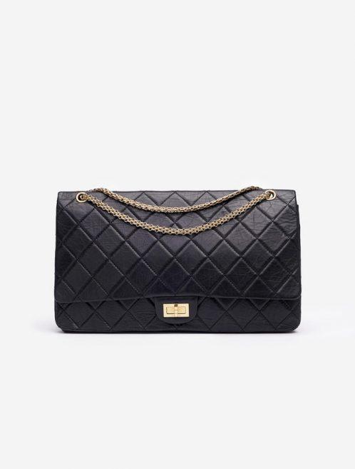 Chanel 255 Maxi Double Flap Black Saclàb