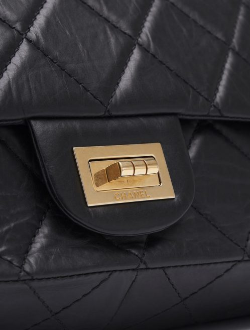 Chanel 255 Maxi Double Flap Black Saclàb Lock