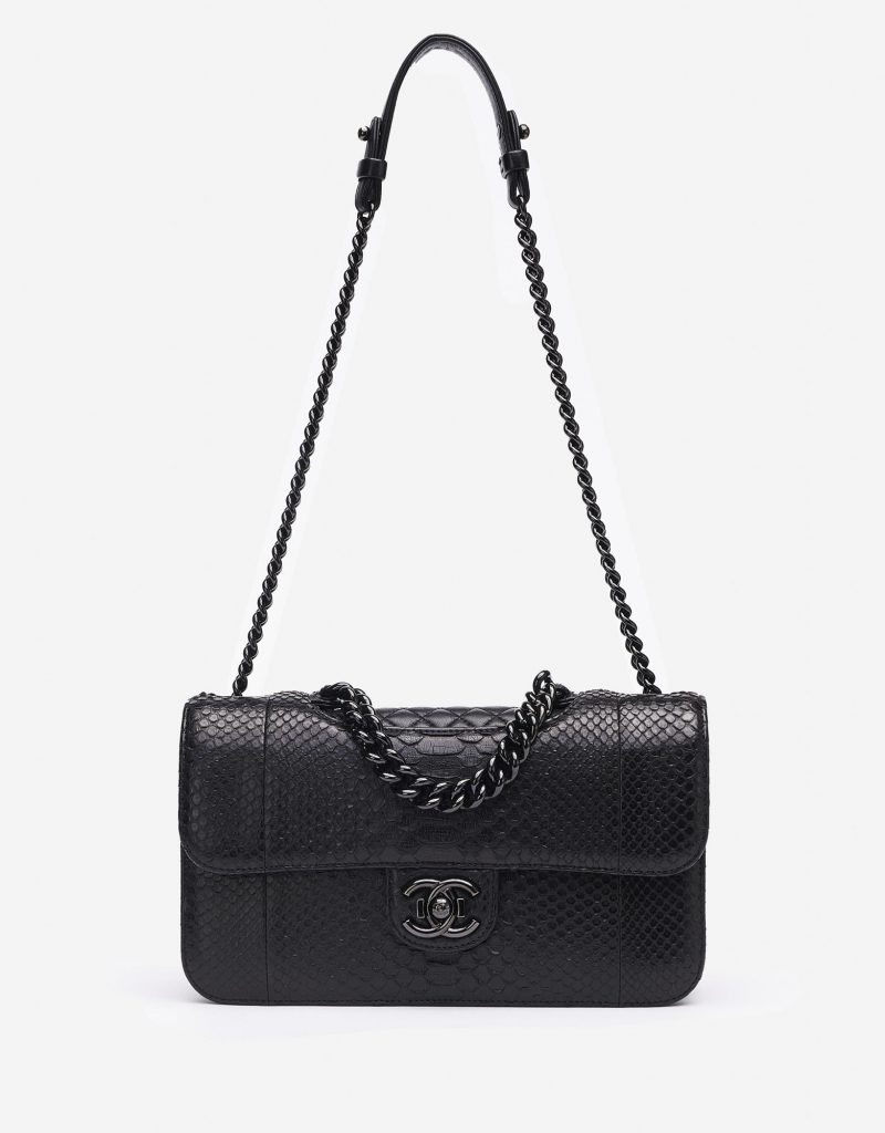 Chanel Timeless Jumbo Python So Black Saclàb