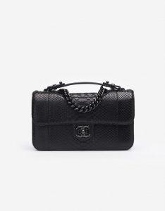 Chanel Timeless Jumbo Python So Black Saclab
