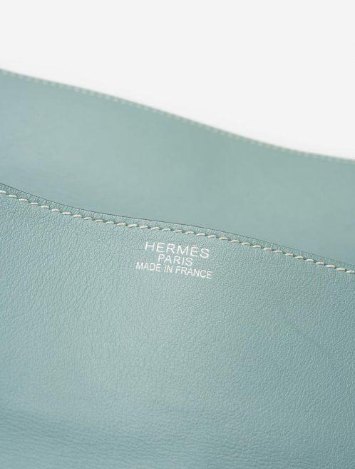 Hermes Kelly Flat 35 Swift Blue Atoll Saclàb Logo