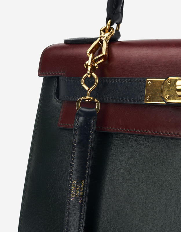 Hermès Kelly 28 Box Tricolor