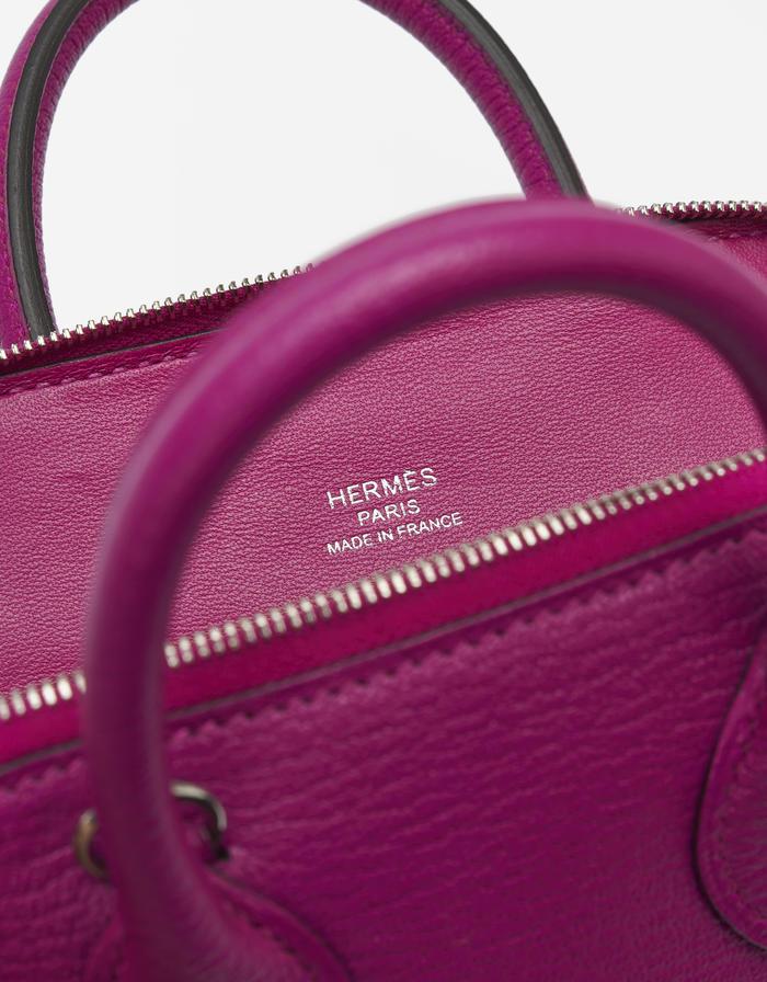 Hermes Bolide Mini Chevre Rose Pourpre Saclàb Inside Like New