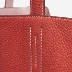 Hermès Sense Double 45 SIKKIM ROSE SAKURA CLÉMENCE ROUGE PIVOINE Saclàb Detail Stitching