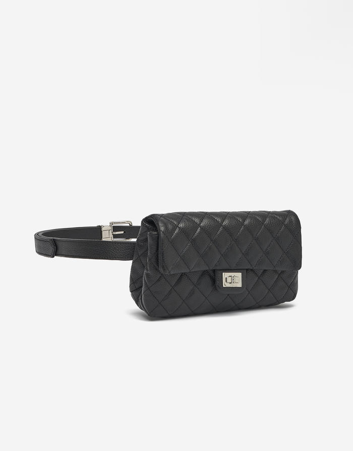 Chanel Uniform 2.55 Belt bag Caviar Black Saclàb