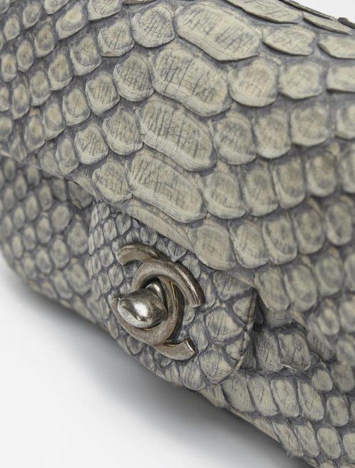 Chanel Timeless Extra Mini Python Dusty Blue Saclàb
