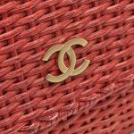 Chanel Timeless Picnic Wicker Red Saclàb Logo