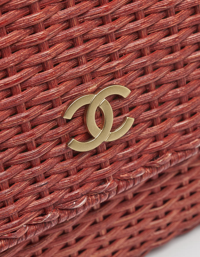 Chanel Timeless Picnic Wicker Red Saclàb