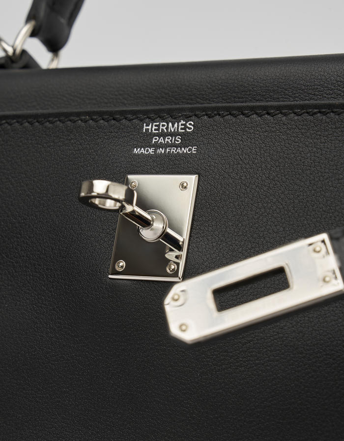Hermès Kelly 25 Swift Black Saclab