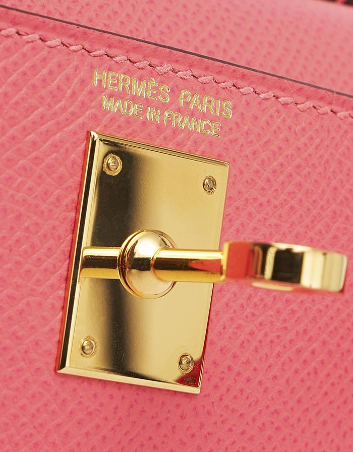 Hermes Kelly 20 Epsom Rose Azalee Mini