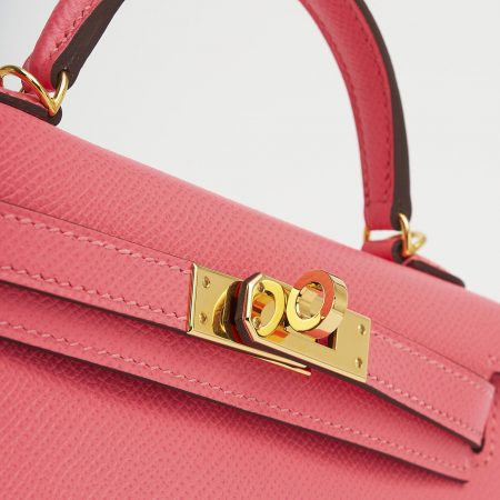 Hermes Kelly 20 Epsom Rose Azalee Mini