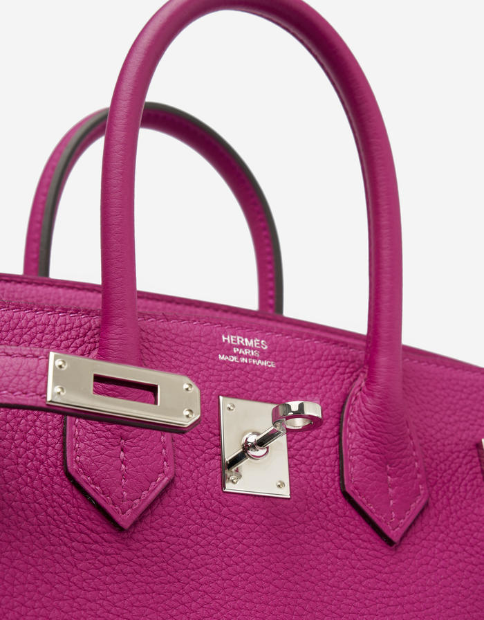 Hermès Birkin 25 Togo Rose Pourpre buy second hand designer bags