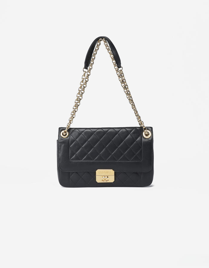 Chanel Chic With Me Large Calf Leather Black