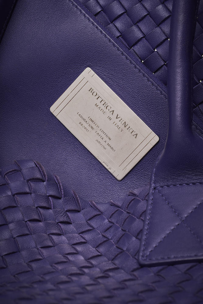Bottega Veneta Cabat Medium Purple Intrecciato
