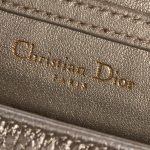 Dior Diorama Mini Metallic Gold