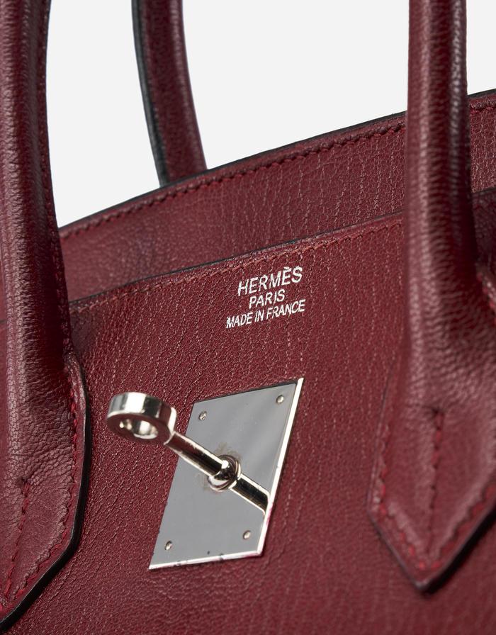 Hermès Birkin 35 Chevre Rouge H Saclab