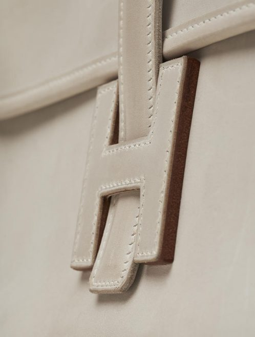 Hermès Vintage Jig Tadelakt Gris Perle Evening Envelope Saclàb H Slip Closure