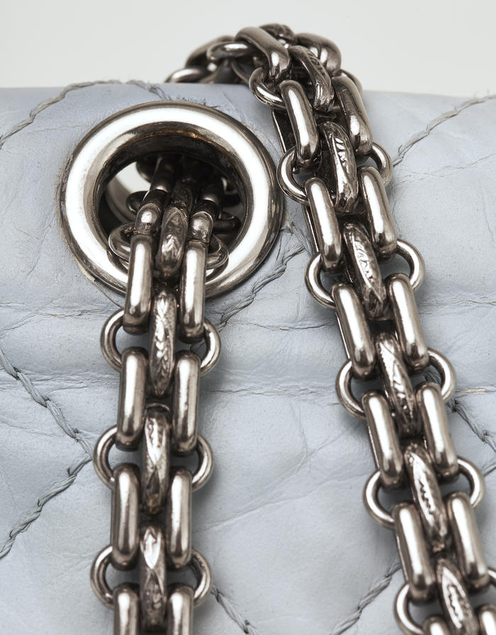 Customised Chanel Reissue 226 Aged Calfskin Marble Saclàb Chain