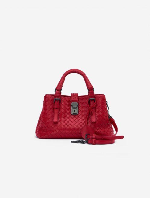 Bottega Veneta Roma Mini Intrecciato Red Red    Sell your designer bag on Saclab.com