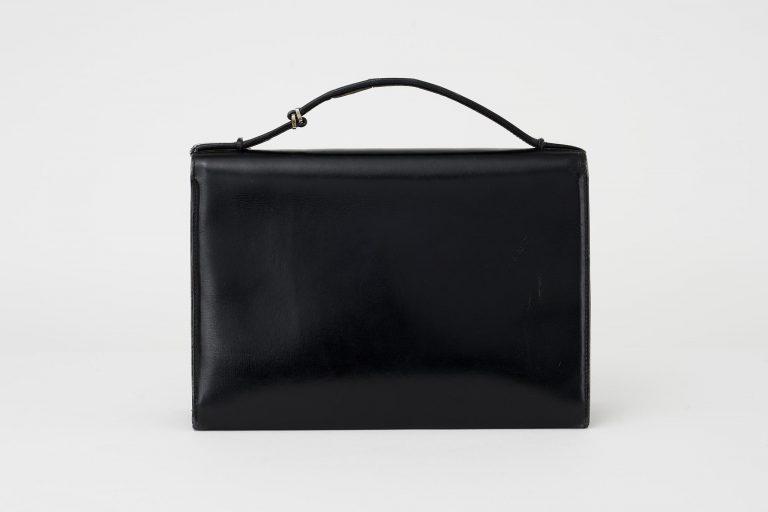 Gucci Vintage Evening Clutch Calf Leather Black Saclàb Back