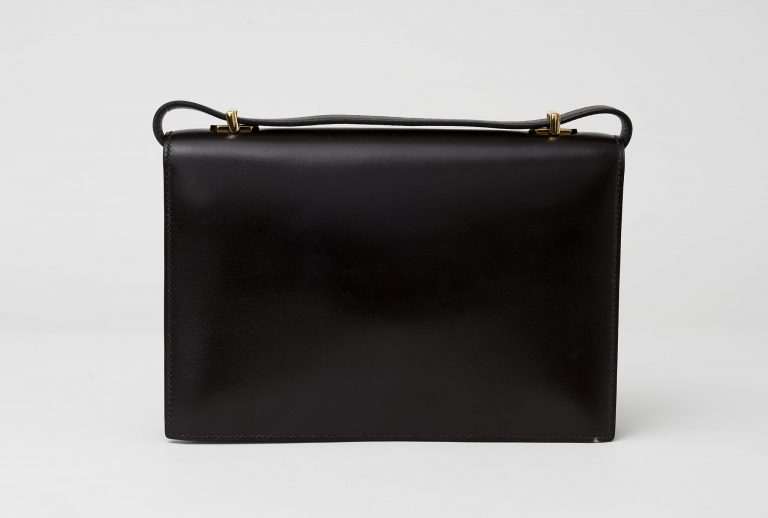 Hermès Vintage Alcazar Box Calf Marron Saclàb Back