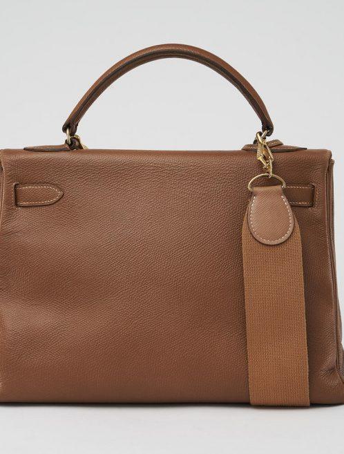 Hermès Kelly 32 Epsom Gold Saclàb Back