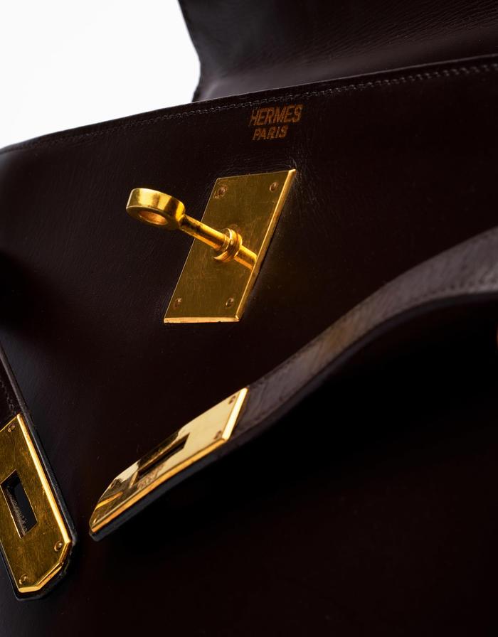 31 Hermès Kelly 32 Box Calf Marron Saclàb