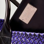 36 Bottega Veneta Cabat Cabat Large Purple Black Saclab