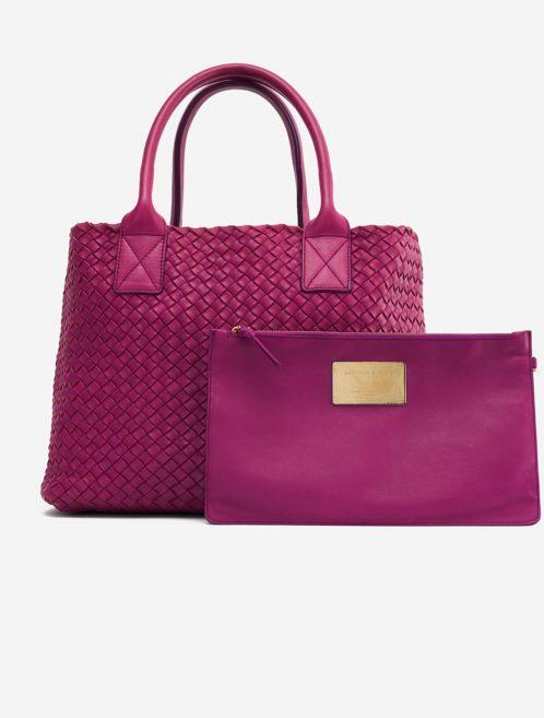 Bottega Veneta Cabat Small Intrecciato Purple Pink, Violet    Sell your designer bag on Saclab.com