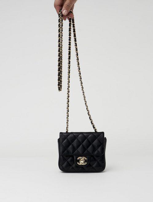 Chanel Classic Flap Mini Lambskin Black Saclàb Front chain