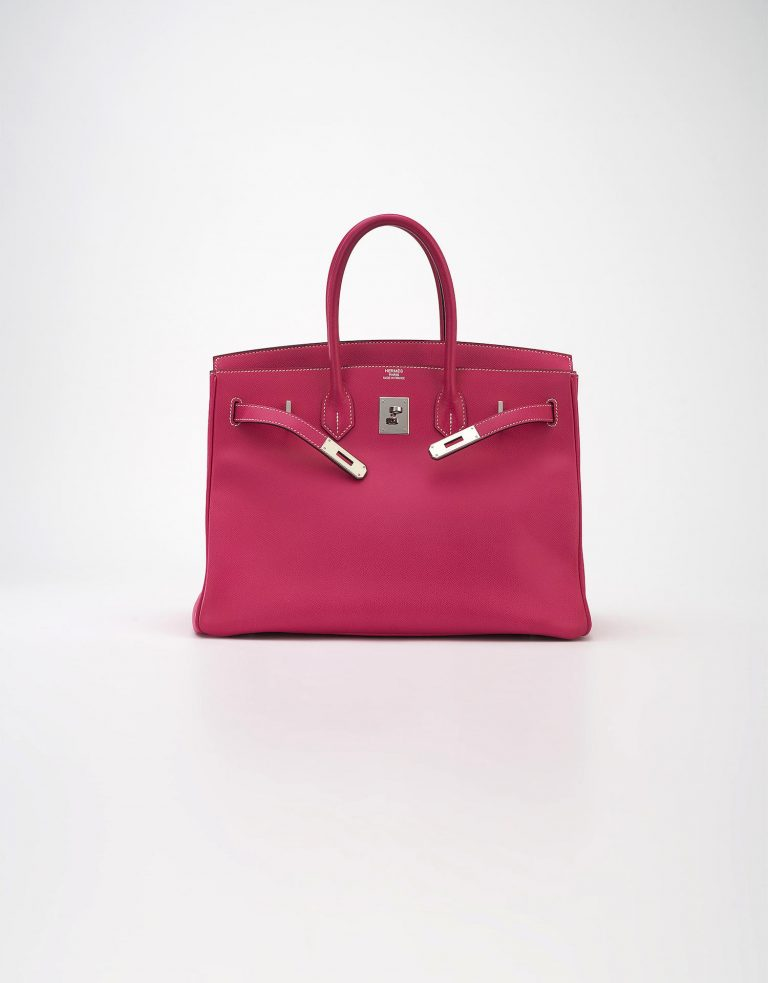 Hermès Birkin 35 Epsom Rose Tyrene Rubis Saclàb Open