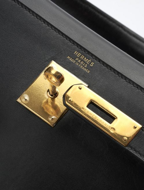 40 Hermès Kelly 32 Box Calf Noir Saclàb Logo