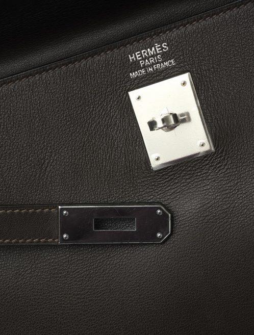 Hermès Kelly 35 Swift Ébène Saclàb Logo Hardware