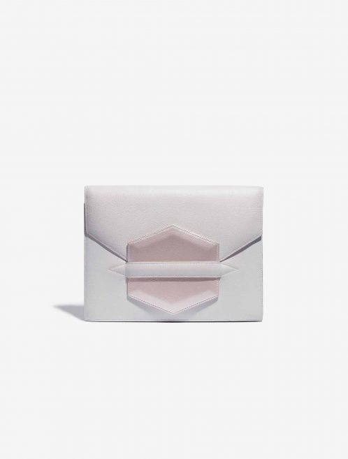 Customised Hermès Faco Clutch Evergrain White