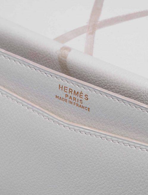 Customised Hermès Faco Clutch Evergrain White Inside