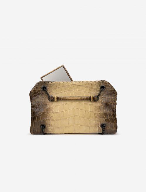 Bottega Veneta Double Chain Shoulder Crocodile Himalaya Brown, White    Sell your designer bag on Saclab.com