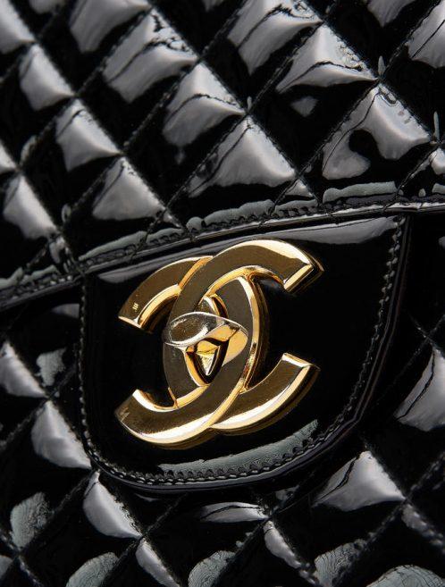 Chanel Vintage Timeless Jumbo Patent Black Saclàb