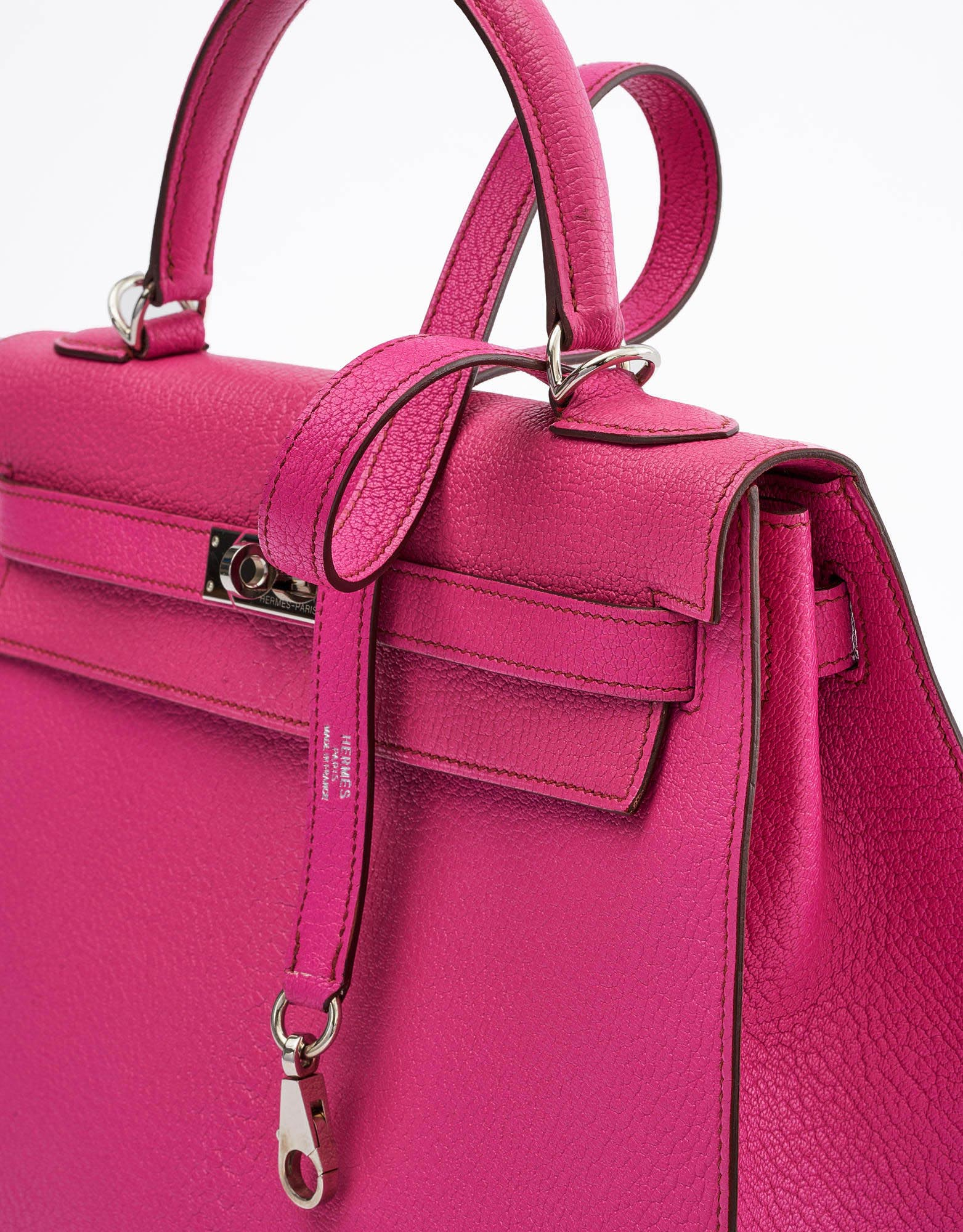 Hermes Kelly 32 Chevre Mysore Rose Shocking Saclàb