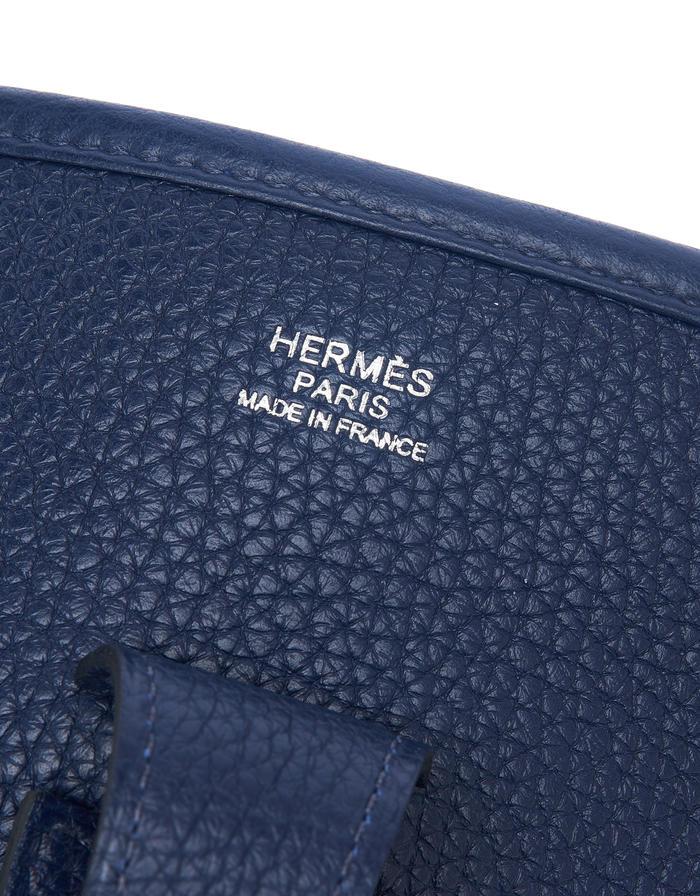 Hermès Evelyne III Amazone/Clemence Blue Nuit Saclàb Logo